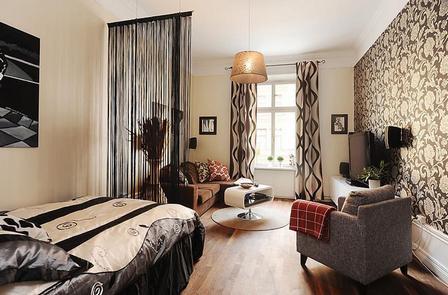 Decorate apartment bedroom