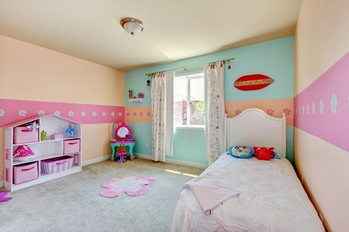 Bedroom baby girl